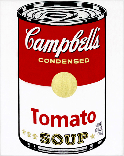 Andy Warhol Campbell Soup Can Painting