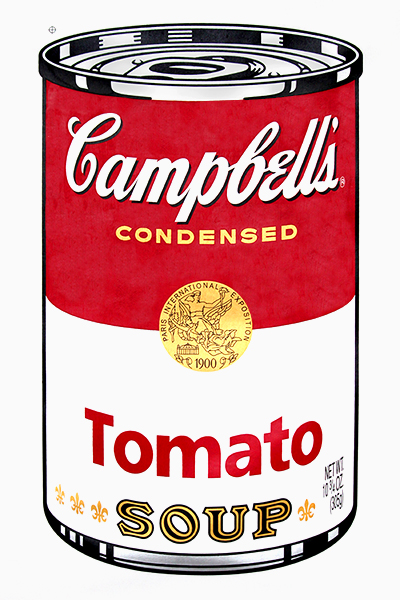 campbell 39 s tomato soup can after andy warhol. Black Bedroom Furniture Sets. Home Design Ideas